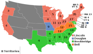 The Electoral Map from the 1860 Presidential Election