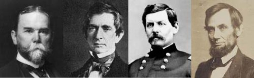 John Milton Hay, Secretary of State William H. Seward, General George B. McClellan, President Abraham Lincoln