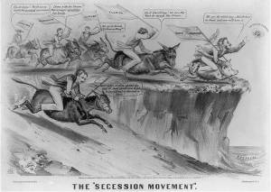 "The ""Secession Movement"" (Currier & Ives, c. 1861)"