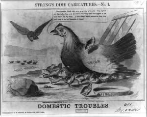 Domestic Troubles (Thomas Strong's Dime Caricatures, No. 1)