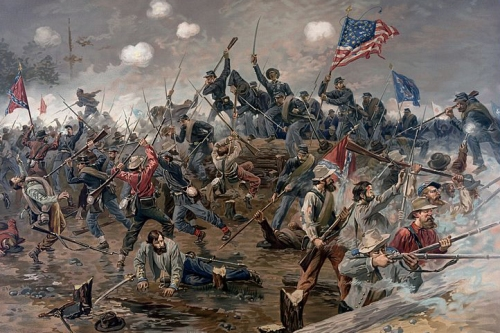 Battle of Spottsylvania by Thure de Thulstrup