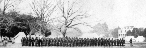 The First South Carolina Volunteers, J.J. Smith Plantation, Beaufort, South Carolina. Click on image for larger size.