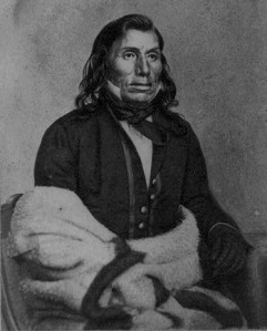 Taoyateduta (Little Crow), Sioux chief, 1862, courtesy Library of Congress