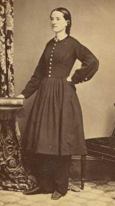 Dr. Mary Walker, 1860-1870, courtesy Library of Congress