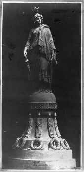 Capitol Dome, Statue of Freedom model , December 2, 1863, courtesy Library of Congress