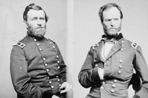Lt. General Ulysses S. Grant and Major General William T. Sherman, courtesy Library of Congress