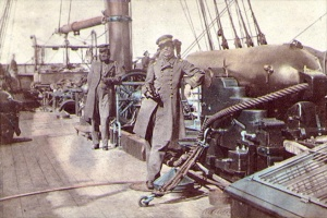 Captain Semmes on CSS Alabama. Click on image for larger picture