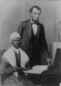 Franklin Counter's painting of Sojourner Truth's meeting with President Lincoln