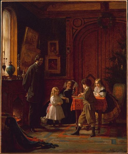Eastman Johnson's Christmas-Time, The Blodgett Family, 1864, Metropolitan Museum of Art