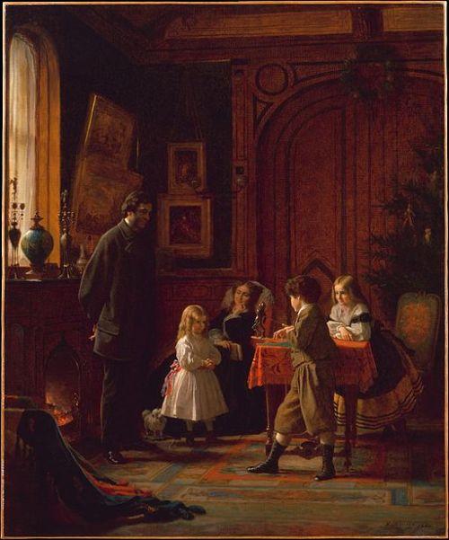 Eastman Johnson's Christmas-Time, The Blodgett Family, 1864, Metropolitan Museum of Art