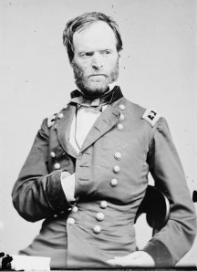 William T. Sherman, between 1860 and 1865, courtesy Library of Congress