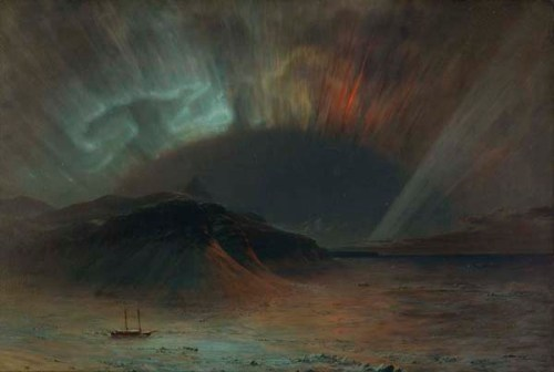 Aurora Borealis by Frederic Church, 1865.  Click on image to see larger size.