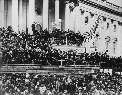 Lincoln's Second Inaugural, March 4, 1865.  Click on picture for larger view.