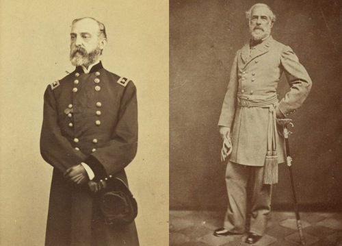 Major General George Meade and General Robert E. Lee