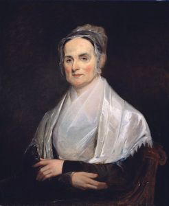 Lucretia Mott (1793-1880), age 42, painted in 1842 by Joseph Kyle (1815 - 1863)